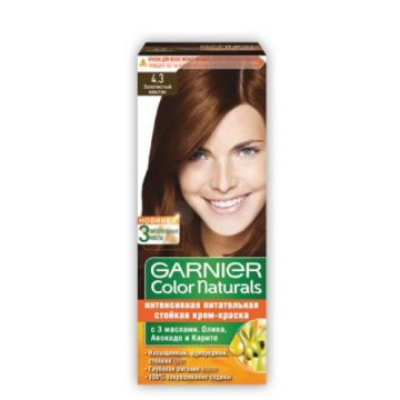 Garnier Color Naturals No 4.3 Golden Brown - 0383 - 3600541124868