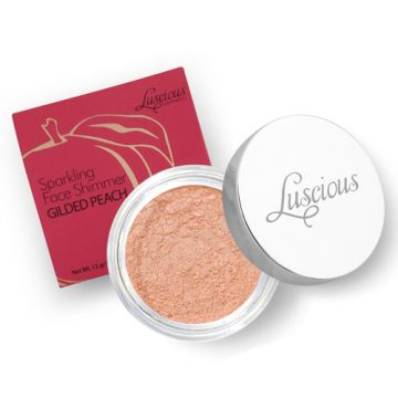 Luscious Sparkling Face Shimmer - Gilded Peach