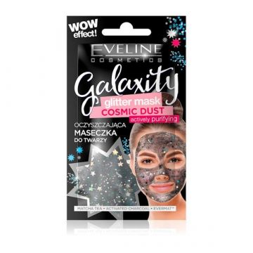 Eveline Glitter Face Sheet Mask Black - 07-20-00025