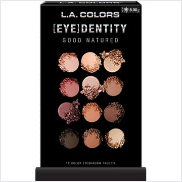 L.A. Colors 12-Color Eyedentity Eyeshadow Palette - Good Natured