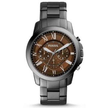 Fossil Grant Chronograph Smoke Stainless Steel Watch