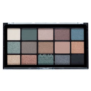 MUA Pro 15 Shade Eyeshadow Palette - Green Goddess