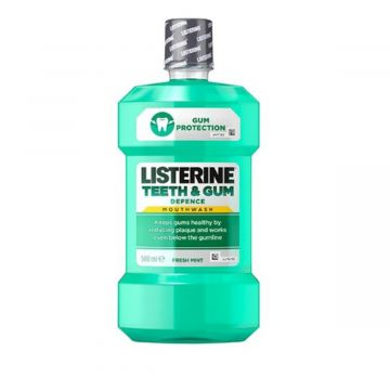 Listerine Teeth & Gum Defense, Milder Taste Soft Mint Mouthwash - 500ml - 3574661397634