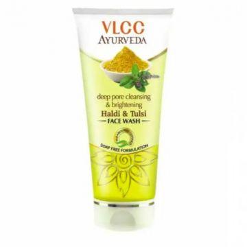 VLCC Ayurveda Deep Pore Cleansing & Brightening Haldi & Tulsi Face Wash - 100ml