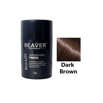 Beaver Hair Building Fiber Dark Brown - 12gm - HBFDB01
