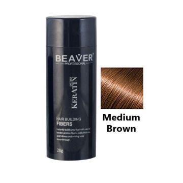 Beaver Hair Building Fiber Medium Brown - 28gm - HBFDM02