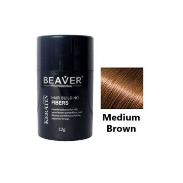 Beaver Hair Building Fiber Medium Brown - 12gm - HBFMB01