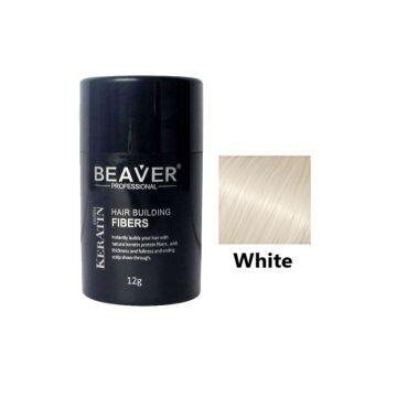 Beaver Hair Building Fiber White - 12gm - HBFW01