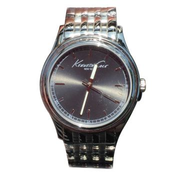 Kenneth Cole Unisex Quartz Silver Gunmetal Dial Watch - KC10030457