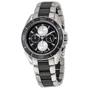 Michael Kors Men's Chronograph JetMaster Carbon Fiber Steel MK8454 Watch
