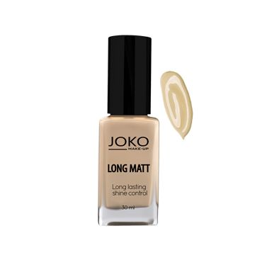 JOKO Makeup Long Matt Foundation - Light Beige 115 - NJPO10064-B