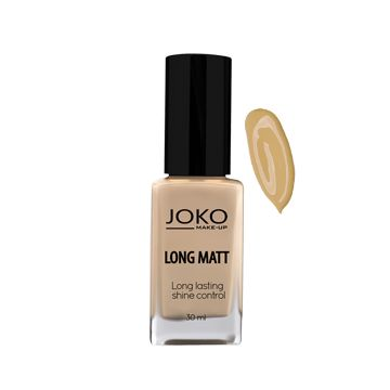 JOKO Makeup Long Matt Foundation - Golden Beige 118 - NJPO10070-B