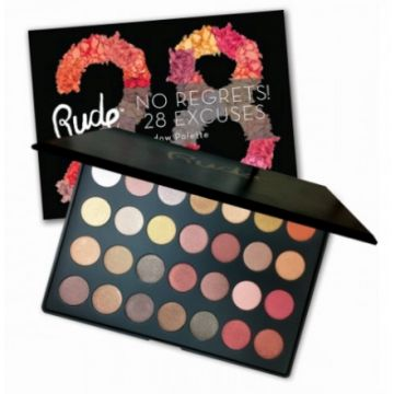 Rude No Regrets! 28 Excuses Eyeshadow Palette - 65546 Leo Shimmer