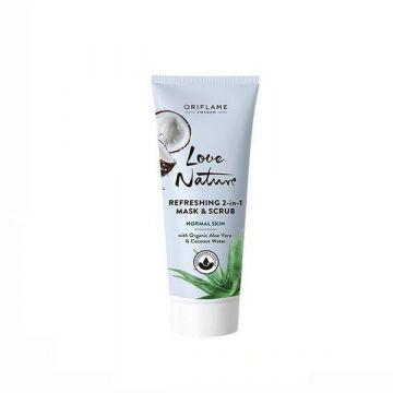 Oriflame Love Nature Refreshing 2 in 1 Mask & Scrub - 34822