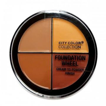 City Color Foundation Wheel - Medium to Deep - BB