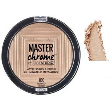 Maybelline FaceStudio Master Chrome Metallic Highlighter - Molten Gold - US