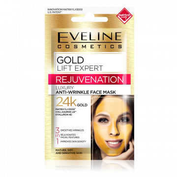 Eveline Gold Lift Expert Anti wrinkle Mask 7ml - 07-04-00010