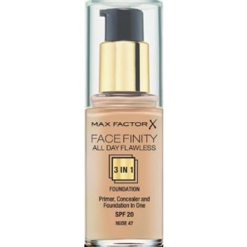 Max Factor Facefinity 3-IN-1 Foundation - Nude - 47 - 5410076971435