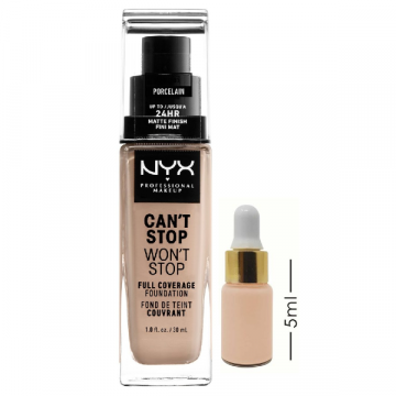 Nyx Can't Stop, Won't Stop Foundation - Porcelain - CSWSF08 (5ml) Foundation Shot