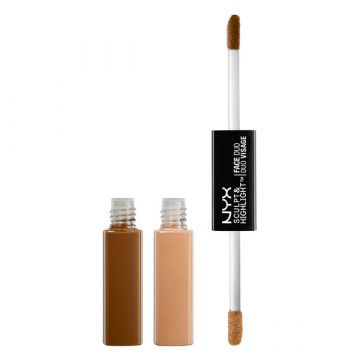 NYX Sculpt & Highlight Face Duo -SHFD04 Cinnamon/Peach - 0.17fl.oz./5.3ml - US