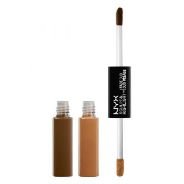 NYX Sculpt & Highlight Face Duo - SHFD06 Espresso/Honey - 0.17fl.oz./5.3ml - US