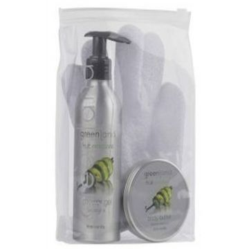 Greenland Bodycare Pack of 3 - Scrub Glove, Shower Gel 200 Ml & Body Butter 100 Ml - Vanilla - FE0194
