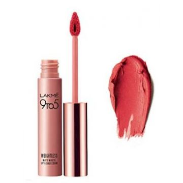 Lakme 9-5 Liquid Lip Color - Pink Plush - 9g