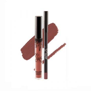 Kylie Matte Liquid Lipstick & Lip Liner - Poison Berry 14g - US