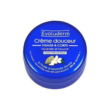 Evoluderm Cream Face/Body Almond - 250ml