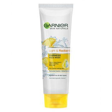 Garnier Light & Radiant Fairness Face Wash Tube - 50ml