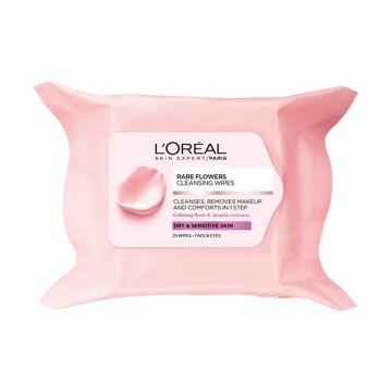 L'Oreal Paris Rare Flowers Cleansing Wipes Dry/Sensitive Skin- 1080