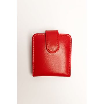 Kordovan Leather Lipstick Pouch Red