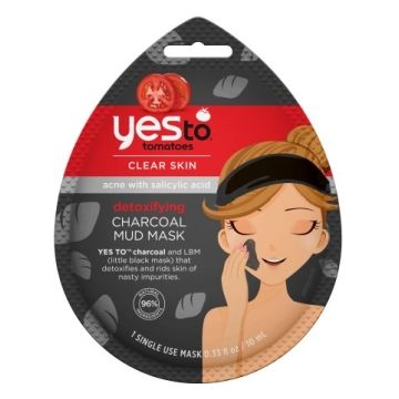 Yesto Tomatoes Clear Skin Detoxifying Charcoal Mud Mask - 1 Single