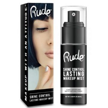 Rude Shine Control Lasting Makeup Mist - 65529
