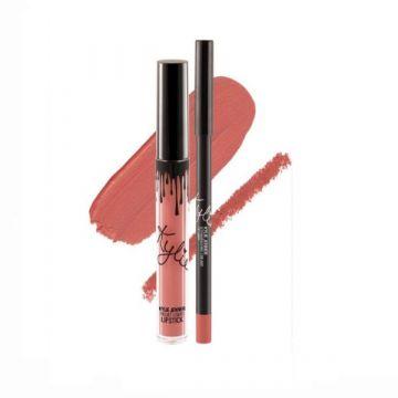 Kylie Matte Liquid Lipstick & Lip Liner -Strawberry Cream 14g - US
