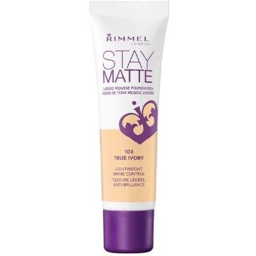 Rimmel Stay Matt Foundation New Launch - Stay Matt - True Ivory -  034-103