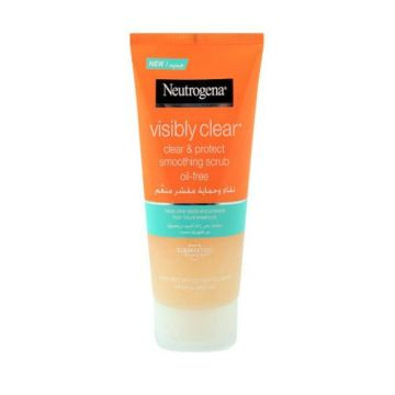 Neutrogena Facial Scrub, Visibly Clear, Clear & Protect, Oil-free - 150ml