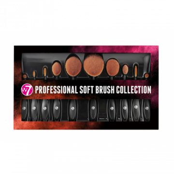 W7 Cosmetics Professional Soft Brush Collection 10 Pcs