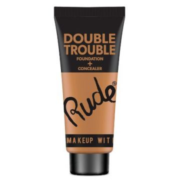 Rude Double Trouble Foundation + Concealer - 87937 Warm Natural