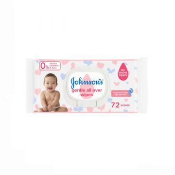 Johnson's Wipes Gentle All Over Wipes - Pack of 72 Wipes - 3574661421810