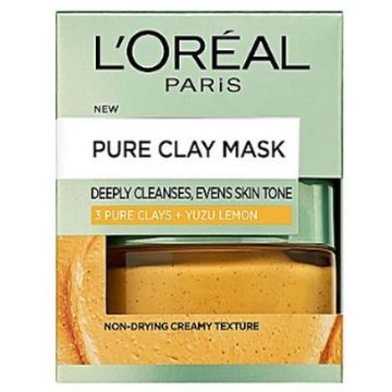 L'Oreal Pure Clay Yuzu Lemon Mask - Brightening, Yellow 50ml - 599.101406.00.000