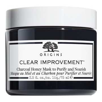 Origins Clear Improvement Charcoal Honey Mask to Purify and Nourish SIZE 2.5 oz/ 75 mL