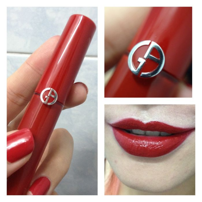 online for sale affordable price separation shoes Giorgio Armani Lip Maestro - 400 The Red